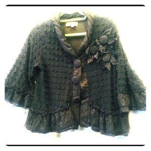 BOGO Pretty Angel vintagelook crochet swing jacket